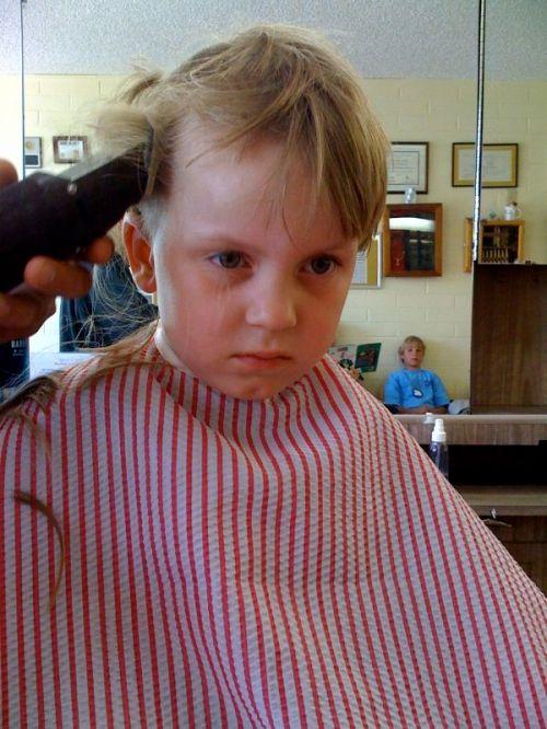 Junior gets a Buzz Cut